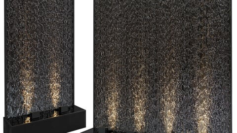 2 aque waterwall Fountains
