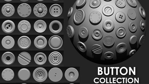 Buttons Collection IMM Brush Pack (30 in One)