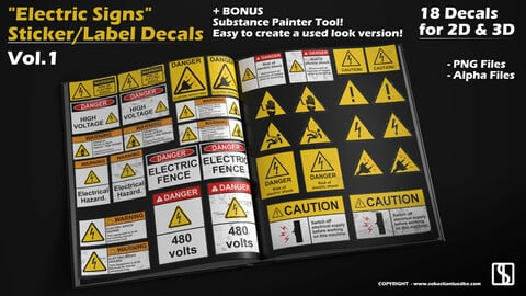 Electric Signs - Sticker/Label - Decals
