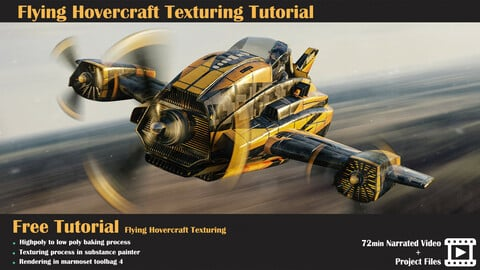 Free Tutorial - Flying Hovercraft Texturing