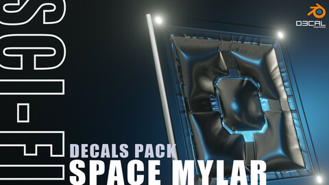 Scifi space mylar decals pack