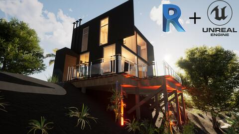 Revit Modern Beach house 3D model