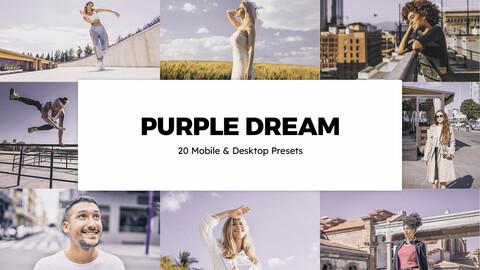 20 Purple Dream LUTs and Lightroom Presets