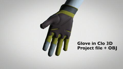 Military glove Clo 3d