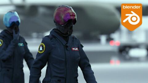 Cyberpunk Pilot scene (blend file)