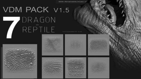 ZBRUSH - REPTILE / DRAGON VDM PACK v1.5