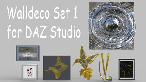 Walldeco Set 1 for DAZ Studio