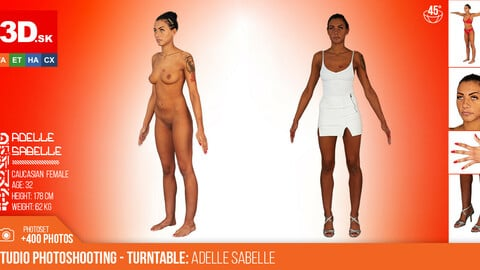 Turntable photoshooting reference of Adelle Sabelle