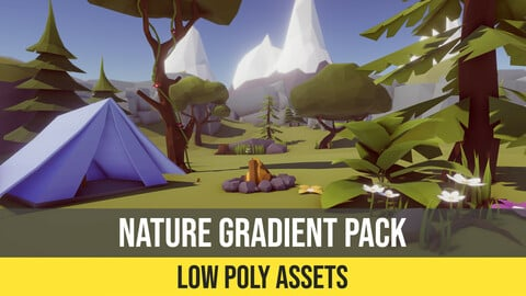Low Poly Nature Gradient