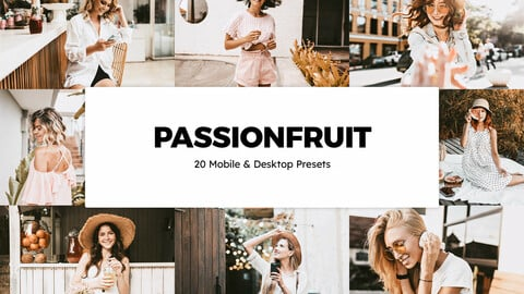 20 Passionfruit LUTs and Lightroom Presets