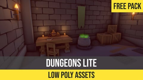 Low Poly Dungeons Lite for Unity