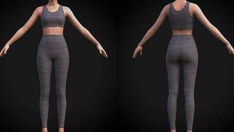Female sport wear - 3D clothing