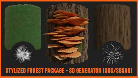Stylized Forest Package - SD Generators SBS/SBSAR