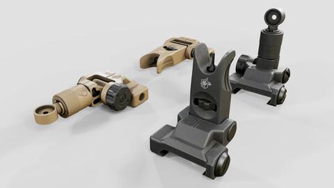 Knights Armament Micro Flip Up Backup Iron Sights