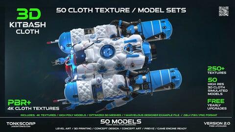 50 CLOTH TEXTURE/MATERIAL SETS & MODELS