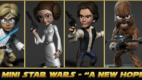 "Mini Star Wars Series 1 - ""A New Hope"" figures"