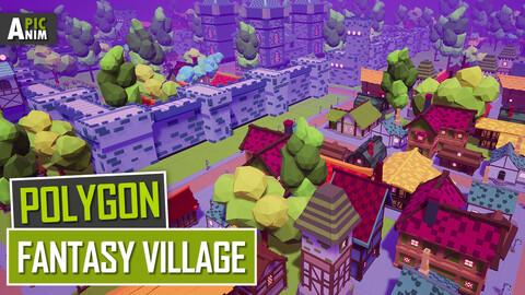 Polygon - Fantasy Village (Unity, UE4)