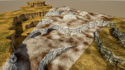 Stylized Modular Cliff 1M