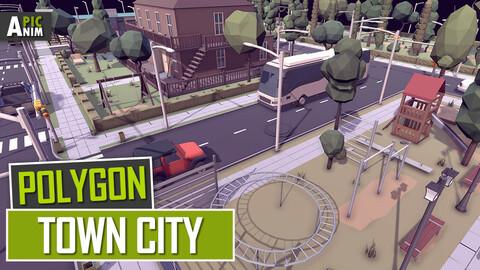 Polygon - Town City Modular (Unity, UE4)