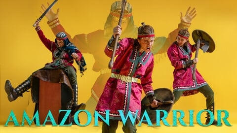 Amazon Warrior pt. 3 Photo Reference Pack for Artists 1153 JPEGs