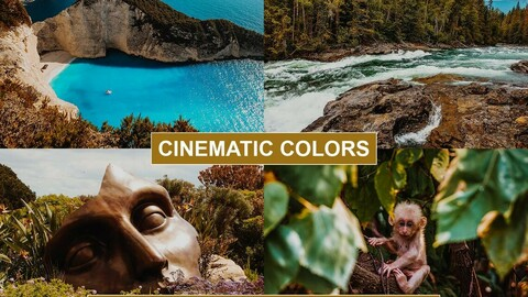 CINEMATIC Film LUTS for Videos / Adobe Premiere Pro / After Effects / Sony Vegas / Final Cut / Photoshop