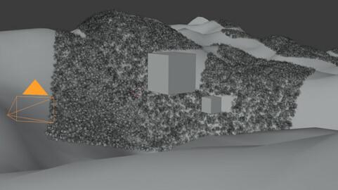 Blender Scattering View Frustum
