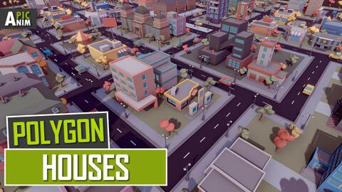 Polygon - Houses (Unity, UE4)