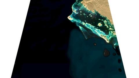 Saudi Arabia topography n25e36 NEOM