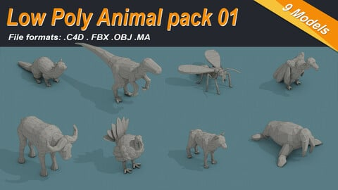 Low Poly Animal Isometric Icon Pack 01