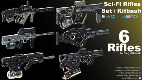 Sci-Fi Rifles Set / Kitbash