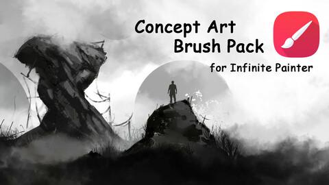 Concept Art Brush Pack for Infinite Painter