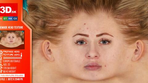 Female  High Res Head Texture 241