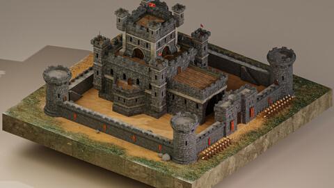 Medieval Castle Level 10 3D Model