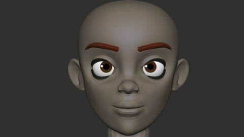 Stylized Base head for Zbrush and exported OBJ for other 3D software