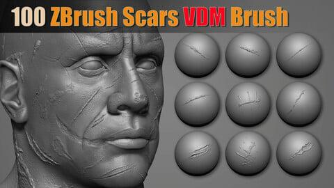 100 Zbrush Scars VDM Brush