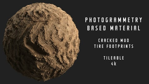 013 Cracked mud - Photogrammetry based material