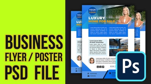 Business flyer / Poster template ( PSD file Photoshop )