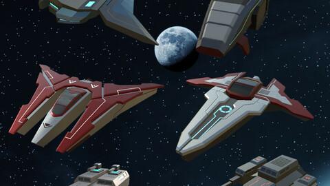 Spaceship Bundle Pack 6