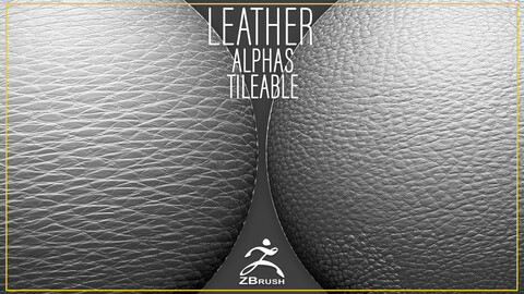 30 Leather Alphas Vol.7 (ZBrush, Substance, 2K)