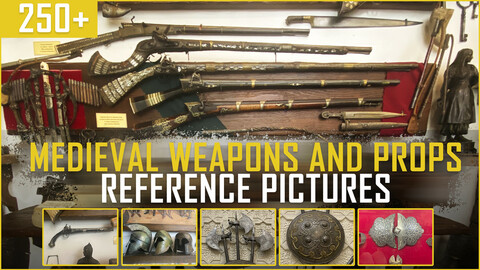 250+ Medieval Weapons and Props Reference Pictures