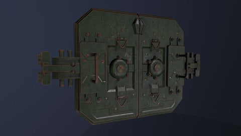 Armored gate Low-poly