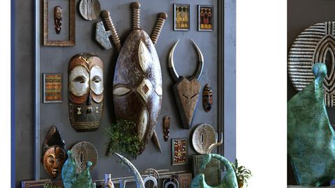 decoration set 099 africa art style