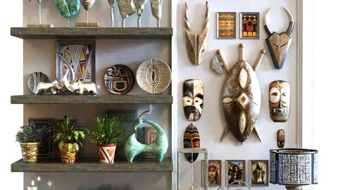 35 decoration object set 100 africa art style