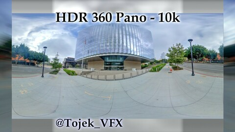 HDR 360 Panorama - DTLA - 22 United States Courthouse