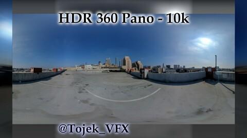 HDR 360 Panorama - DTLA - 92 Medallion Apts. Parking Garage top