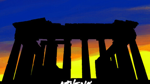 Greece, Athens art poster