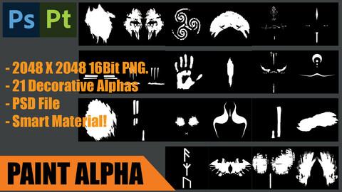 x24 Viking Makeup Alpha Maps