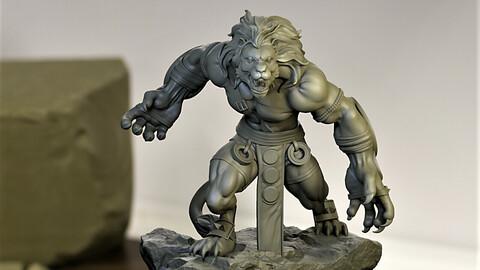"""""""Aslanbek """" the Lion Warrior STL for 3d printing ."""