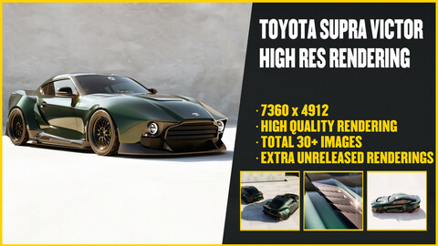 TOYOTA SUPRA VICTOR (30+ FINISHED RENDERINGS)