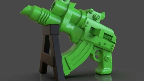 Stylized Sci-Fi Pistol Sculpture